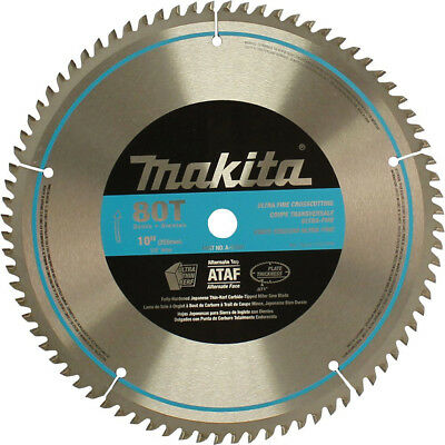 Makita A-93681 10-Inch 80 Tooth 600 Grit Micro Polished Mitersaw Blade