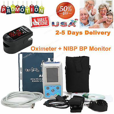 CONTEC Ambulatory Blood Pressure Monitor+Software 24h NIBP Holter ,Sale ABPM50
