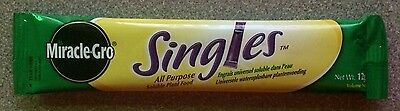 MIRACLE-GRO SINGLES,LOT OF 10,ALL PURPOSE PLANT FOOD,12g SACHETS