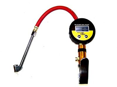 AIR TIRE INFLATOR  HIGH ACCURATE DIGITAL PRESSURE GAUGE WITH DUAL CHUCK 220psi
