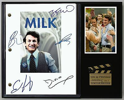 Milk - Reprinted Autographed Movie Script Display - Free Shipping In The USA