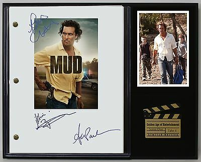 Mud - Reprinted Autographed Movie Script Display - Free Shipping In The USA
