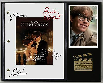 The Theory of Everything - Reprinted Autographed Movie Script Display