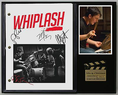Whiplash - Reprinted Autograph Movie Script Display - Free Shipping in the USA