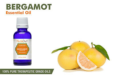 Bergamot Essential Oil 100% Pure Natural PREMIUM Therapeutic Grade Oils