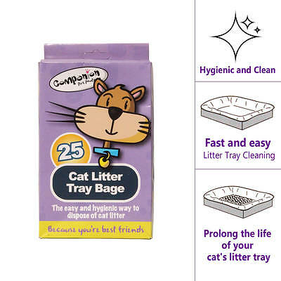 25pk Cat Litter Tray Liners Hygienic Clean 29.8cm x 72cm With Handles Absorbent