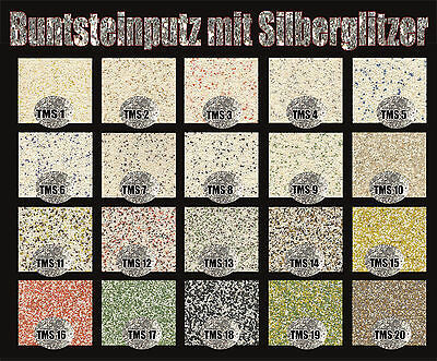 mosaikputz buntsteinputz sockelputz mit silberglitzer 15 kg eimer eur 36 89 picclick de. Black Bedroom Furniture Sets. Home Design Ideas