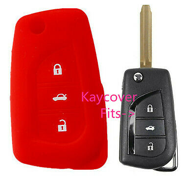 Silicone Toyota Flip Car Key Cover Camry Corolla Sport 2013 2014 Ascent