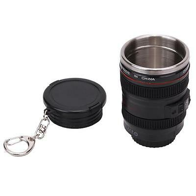 Outdoor Stainless Steel Lens Keychain Camera Travel Coffee Tea Mug Cup New NB