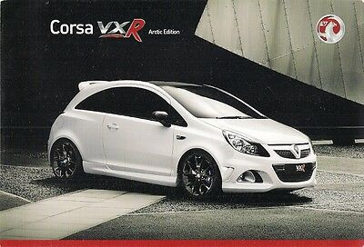Vauxhall Corsa VXR Arctic Limited Edition 2008 UK Market Sales Brochure
