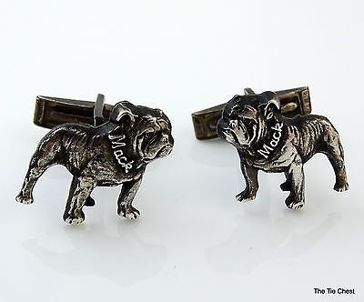 Vintage Sterling Silver Cufflinks Mack Dog Bulldog