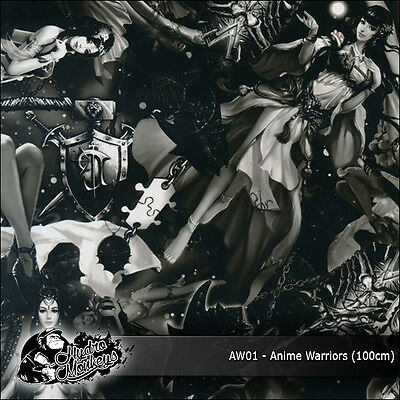 1m of Anime Warriors (AW01) 100cm hydrographics water transfer film