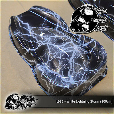 1m White Lightning Storm (LIG3) 100cm  hydrographics water transfer film