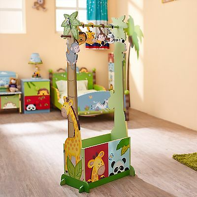 Fantasy Fields by Teamson Sunny Safari Dress Up Valet Rack with 4 Hangers