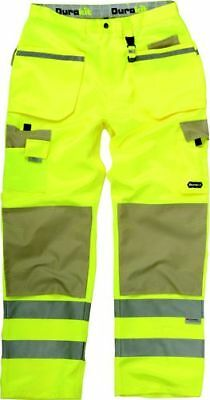 "Durakit Hi Vis Yellow Trousers SIZE 36"" ONLY"