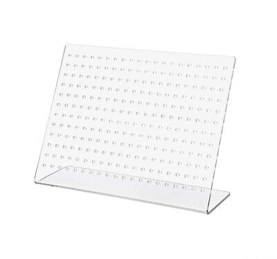 Earring Holder Display Slant Back Clear Acrylic Holds 120 Pairs Jewelry Stand