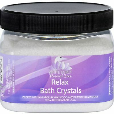 White Egret Bath Crystals Relax 16 Oz