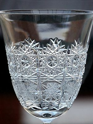Large Vintage Bohemian Crystal Queen Lace Wine Glass  -15.7 X 5.8 Cm