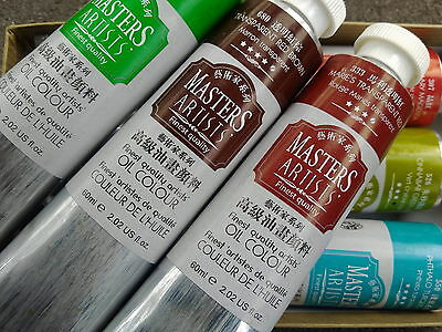 MASTERS ARTIST OIL PAINTS-60ml X 6 tubes- Supreme Quality Choose from 96 colors