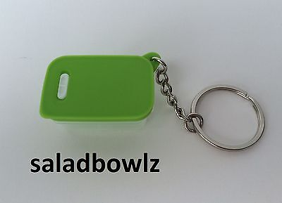 TUPPERWARE New MINI FRIDGESMART KEYCHAIN Lime Aid Green Tiny Treasures fREEsHIP!
