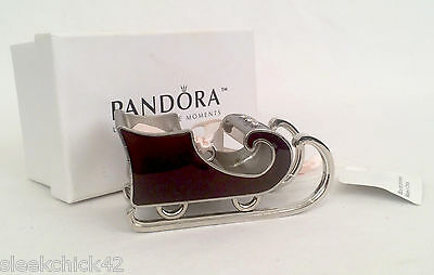 PANDORA 2010 Sleigh Christmas Ornament 3rd in the Series - Unforgettable Moments
