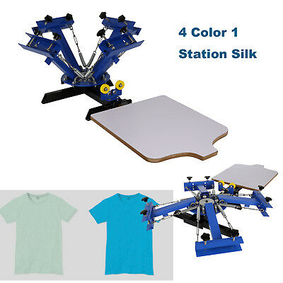 4 Color Screen Printing Press Kit Machine 1 Station Silk Screening Pressing DIY