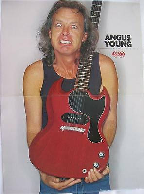 Angus Young- AC/DC- Red Guitar-Photo:Ross Halfin/Idol- Mini Poster Art Print