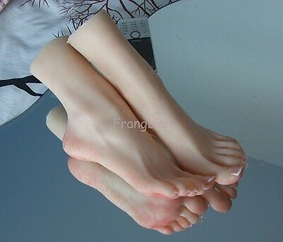 1 Pair Soft silicone Lifesize Female Mannequin Leg Foot Mannequin Display