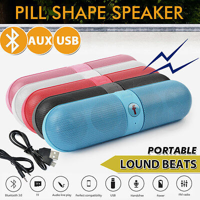 Shockproof Portable Bluetooth Wireless FM Stereo Speaker For Smartphone TabletBO