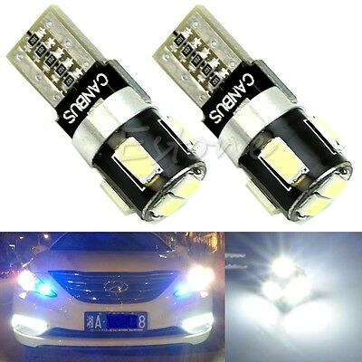 2x T10 6-LED W5W 5630 SMD FPC CANBUS Error Free Car Wedge Light Lamp Bulb White