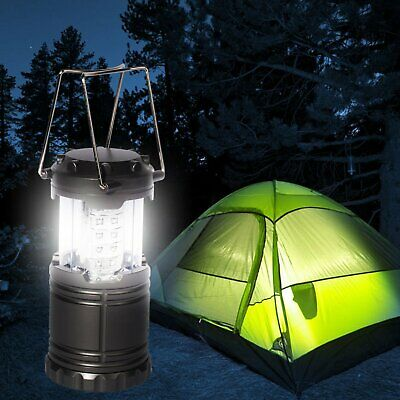 30 LED Portable Camping Torch Battery Operated Lantern Night Light Tent Lamp