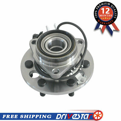 New Front Wheel Hub & Bearing for GMC Cadillac Chevy 4WD 6 Lugs w/ ABS