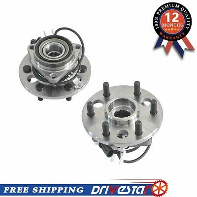 Pair/Set of 2 Front Wheel Hub & Bearing for Chevy Cadillac GMC ABS 4WD 6 Lugs