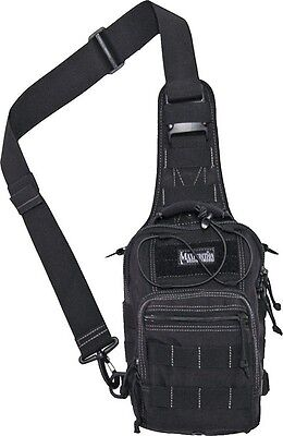 "Maxpedition Remora Gearslinger Black 0419B Main compartment measures 9""x7""x3"". M"