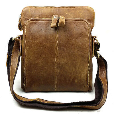 BAIGIO Men's Vintage Genuine Leather Shoulder Bags Cross Body Satchel Briefcase