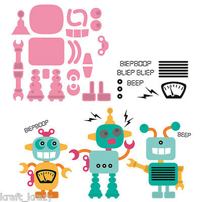 Marianne Design Collectables Die Cutting Embossing Robot And Stamps Col1403