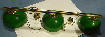 Limited Stock Of Pool /snooker Table Brass Rails With Green Metal Bowl Shades
