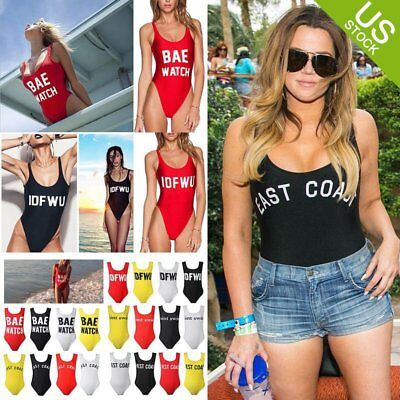 Women Backless One-Piece Swimsuit Summer Beachsuit Swimwear Bathing Suit