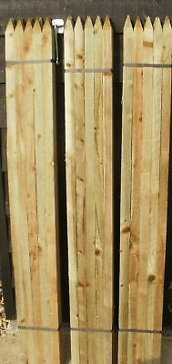 10 1.8m (6ft) Square & Pointed Wooden Pressure Treated Tree Stakes posts wood