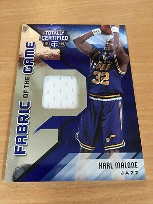 2015/16 Totally Certified Karl Malone 23/49 Fabric Of The Game Patch Utah Jazz