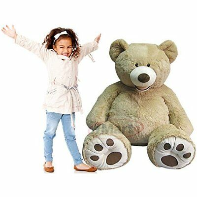 Giant 53'' Luxury Plush Extra Large Teddy Bear by Hugfun Sandy Color NEW