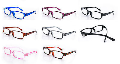 Slim Reading Glasses  form 0.00 to  4.00 Unisex Trendy Designer Spring Geek