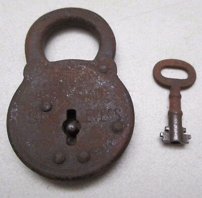 Antique Corbin Ironclad Six Lever Padlock with Key Vintage Pat. 5-26-1914 Old