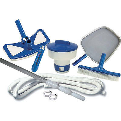 Cleaning Maintenance Swimming Pool Kit Vacuum Cleaner Head Hose Leaf Skimmer New