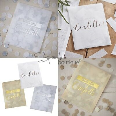 Tissue Paper Throwing Confetti in Envelopes - Wedding -3 Colours- Vintage Affair