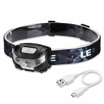 Rechargeable LED Headlamp Light Multiple Modes Dimmable Head Lamp +USB Cable