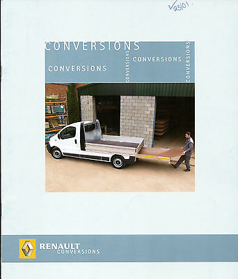 Renault Trafic & Master Conversions 2007 UK Market Brochure Tipper Luton Bus Box