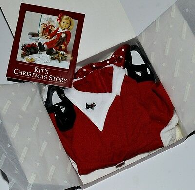 Kit Christmas Dress! 1St Edition~Scottie Pin! American Girl Doll~Retired! New!