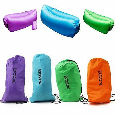 Outdoor Instantly Inflatable Hangout Sofa Lounge Portable Beach Chair Air Bag