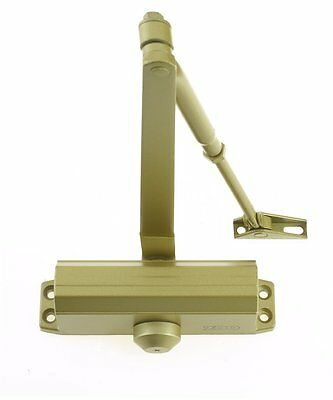 Brass Fire Rated Overhead Door Closer 1 Hour Adjustable Steel Tested Size 3 60kg